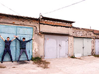 The garage in which was recorded the first album of the IMIRA band