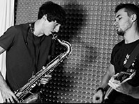 Saxophone and guitar, Ivan and Alexander from IMIRA band